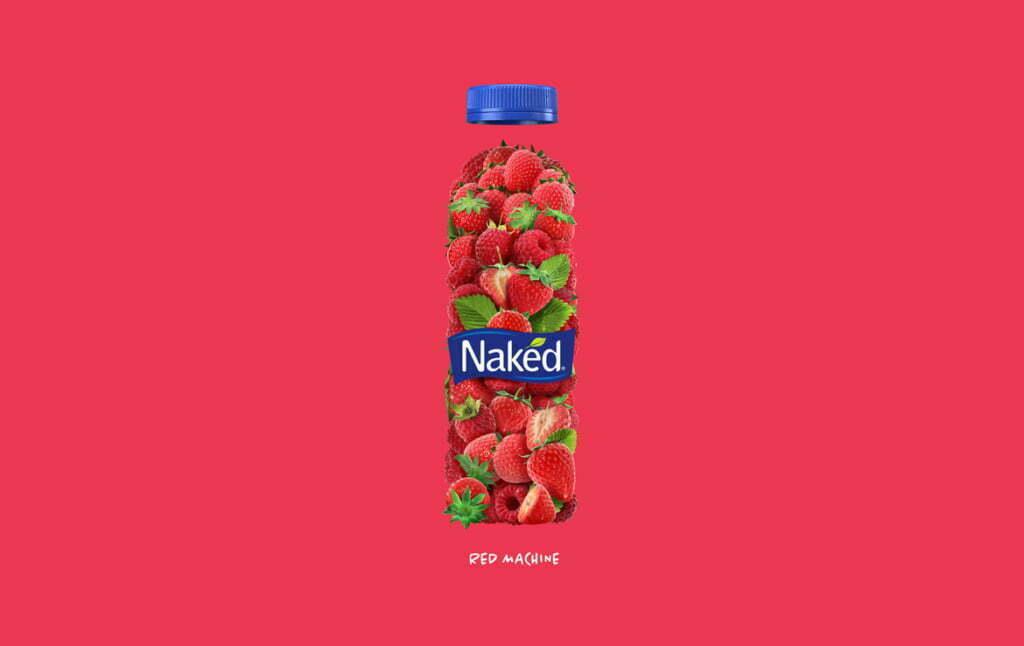 3D Naked Strawberry Drink Illustration Thumbnail