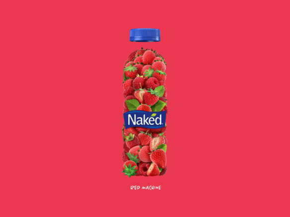3D Naked Strawberry Drink Illustration Thumbnail
