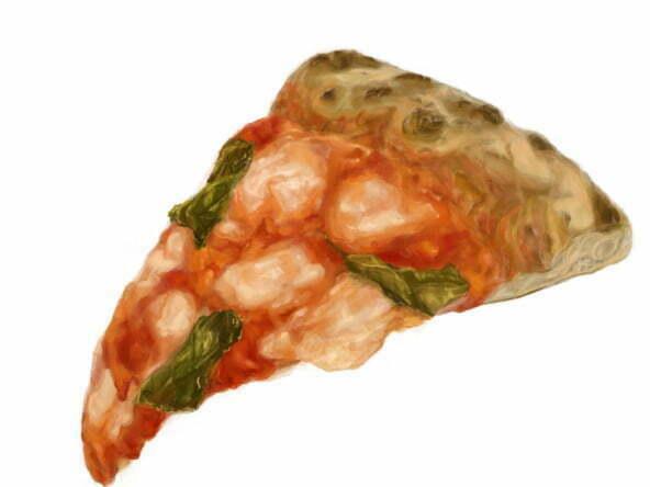 2D-margarita-piza-food-illustration