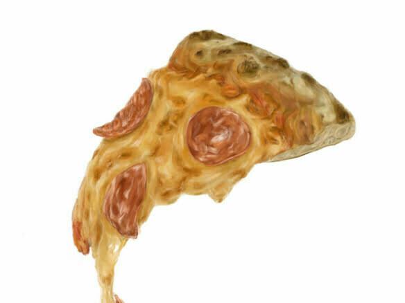 2d-Pepperoni-Pizza-white-food-illustration