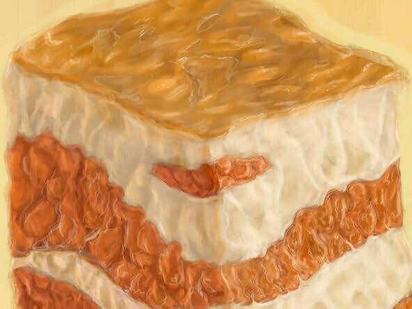 2d cubic bacon sandwhich segment food illustration