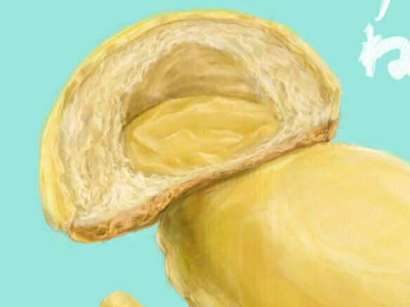 2d-custard-dougnut-food-cake-illustration