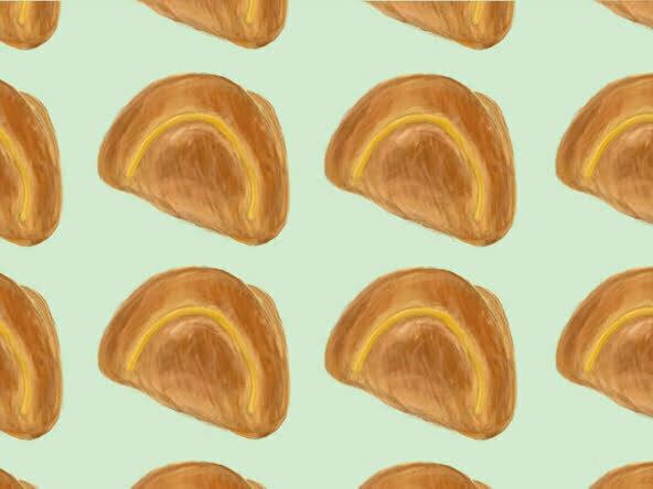 2d japanese pastry cake food illustration