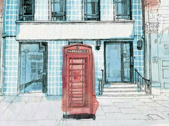 2D Architectural Watercolour Elevation Illustration London