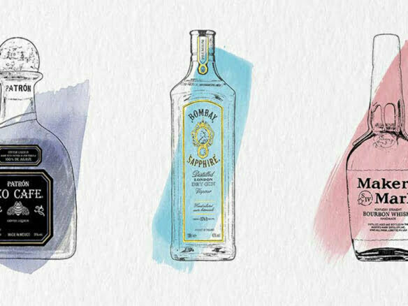 2D Brands Drinks Illustration Bottles Range