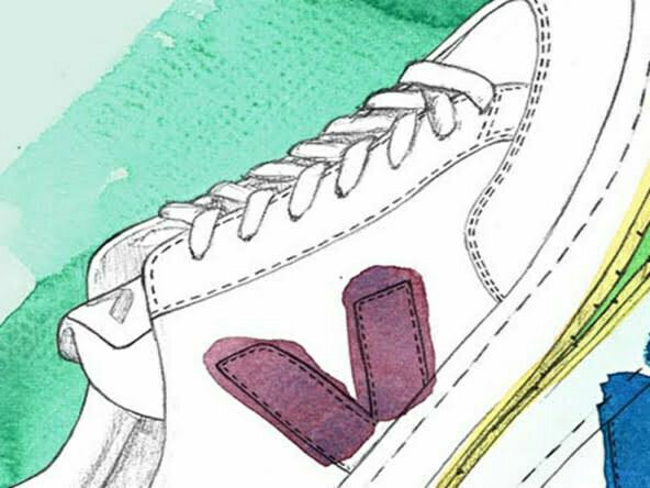 2D Brands Illustration Veja Trainers