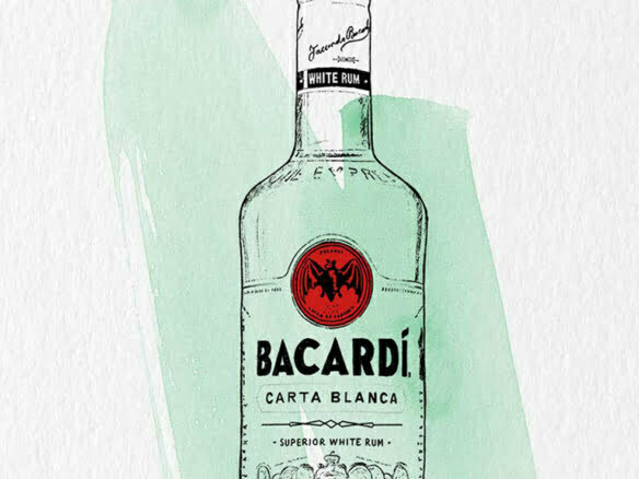 2D Brands Illustration Bottle Drinks Bacardí