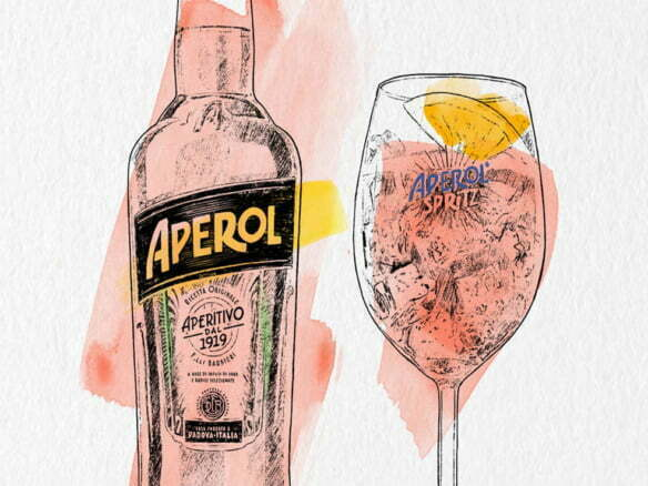 2D Brands Illustration Drinks Aperol Spritz