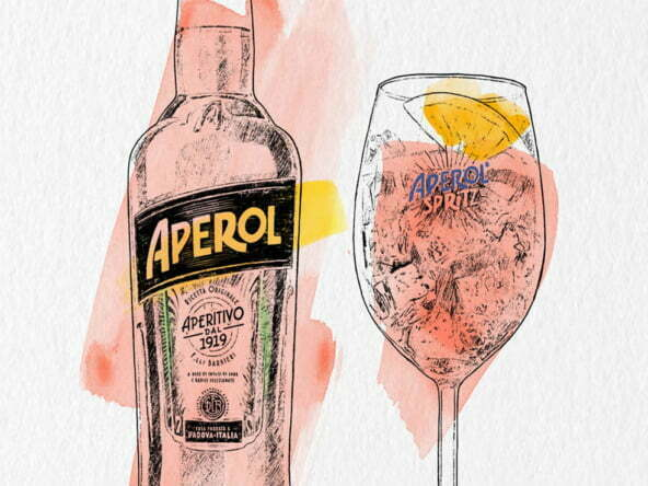 2D Brands Illustration Drinks Aperol Spritz