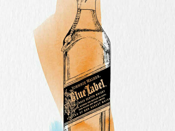 2D Brands Illustration Drinks Bottle Johnnie Walker