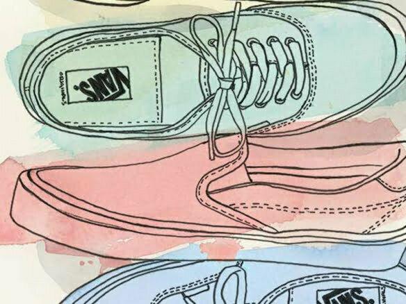 2D Brands Illustration Trainers Vans