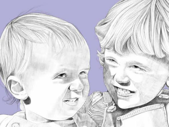 2D Portrait Illustration Children