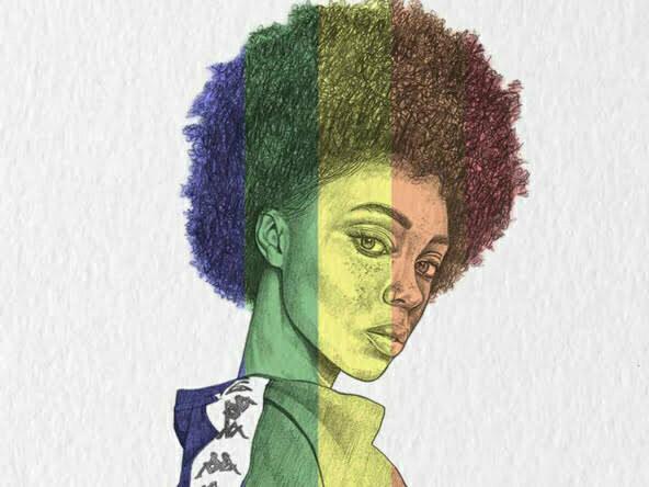 2D Portrait Illustration woman 3