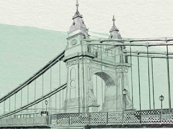 2D Illustration London Watercolour Architecture