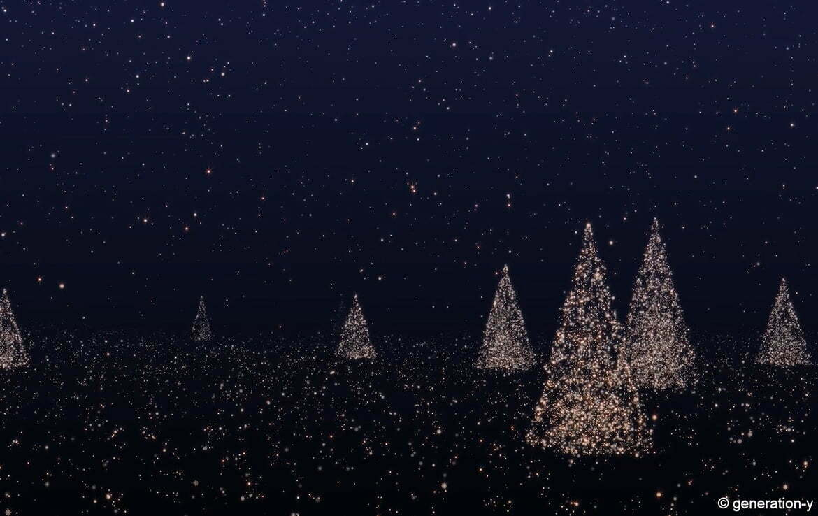 3D Xmas Market Event Trees Animation
