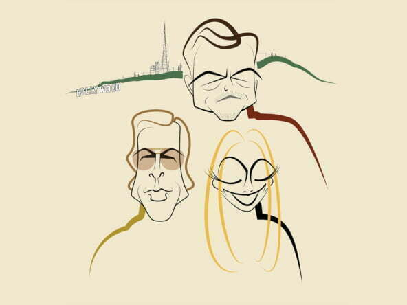 2D Illustration Once Upon a Time in Hollywood