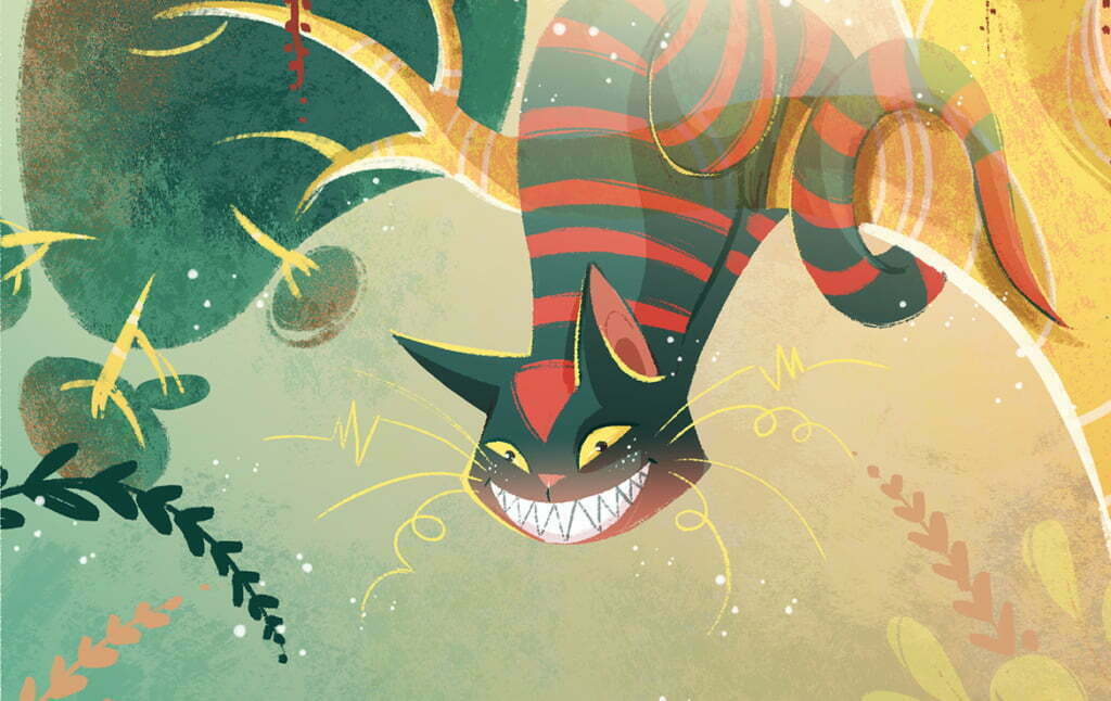 2D Alice In Wonderland Cheshirecat Illustration