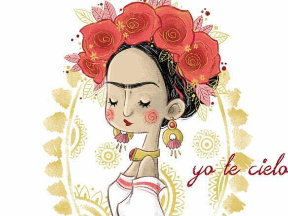 2D Character Frida Kahlo Illustration
