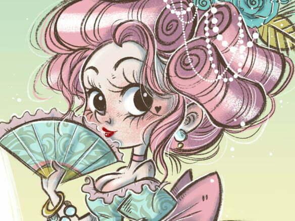 2D Character Maria Antonietta Illustration