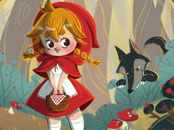 2D Little Red Riding Hood Illustration