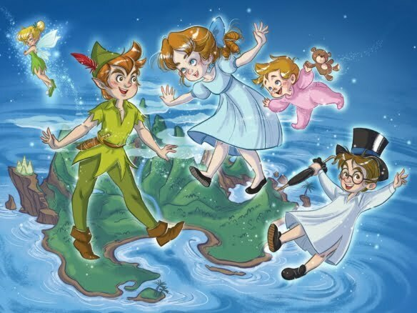 2D Peter Pan Illustration