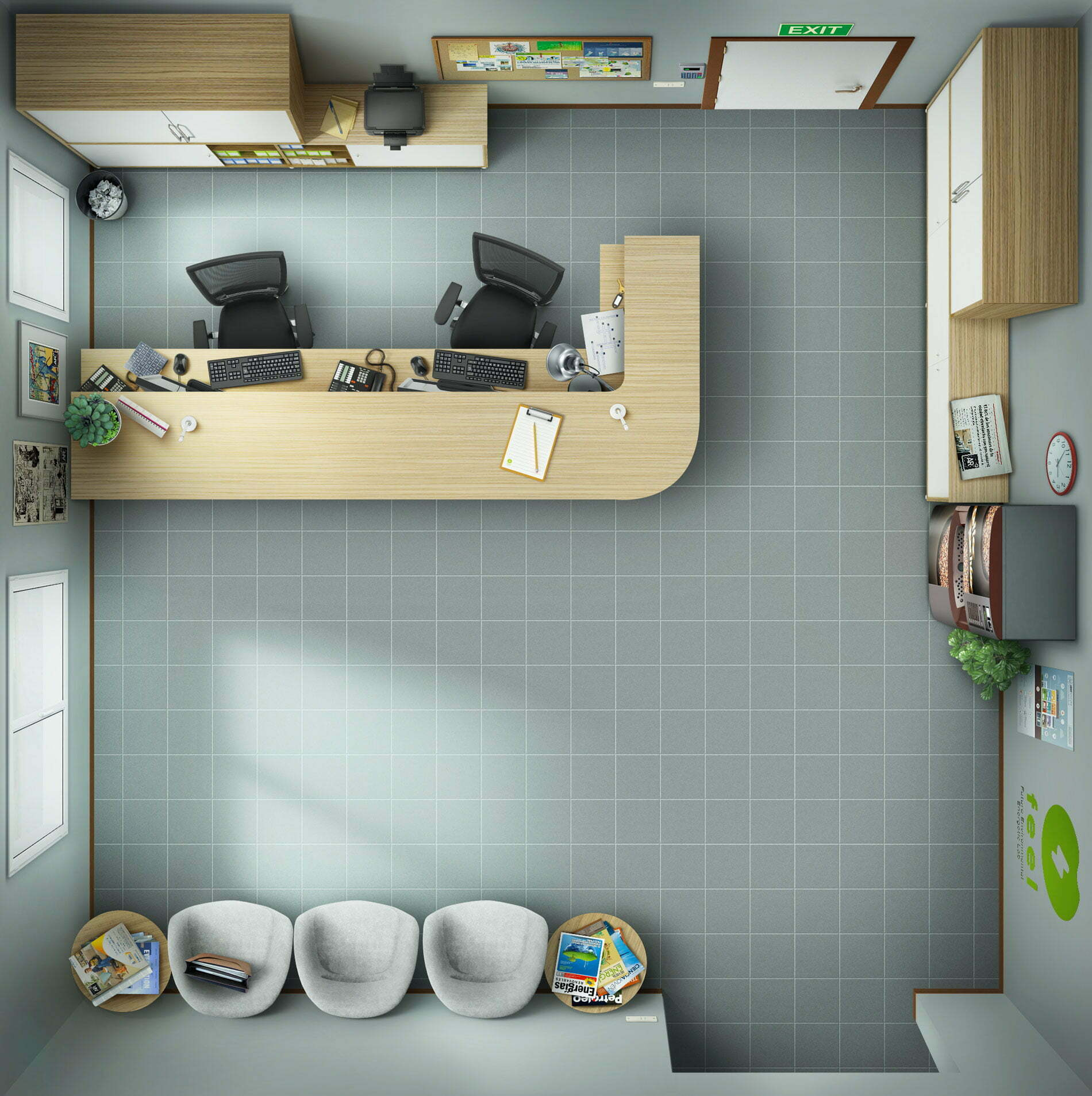 2D Illustration 3d simulated for advertising and game interface