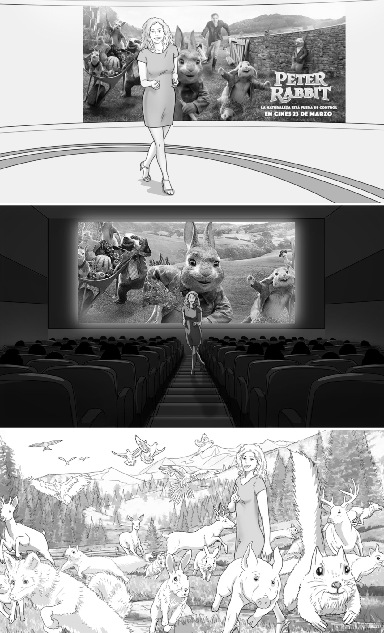 Storyboard for Peter Rabbit Movie Launch TV Campaign