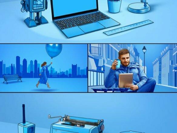 Storyboard Illustrations Slovenia Advertising Campaign